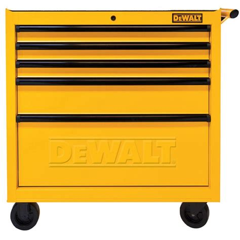dewalt 36 in 5 drawer rolling tool cabinet yellow