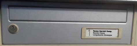 targhette per cassette postali targhetta posta in plastica 8020 leggibile resistente