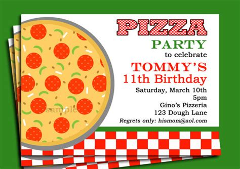 8 best images of printable pizza invitations pizza party