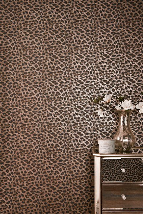 leopard print wallpaper for bedroom wallpaper wednesday leopard print wallpaper from next love chic living
