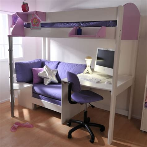 Loft Beds With Futon And Desk by Futon Bunk Bed With Desk Metal Design Ideas For