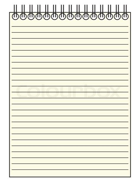 Reporters Notebook Template a reporter s lined notepad template or background isolated on a white background stock vector