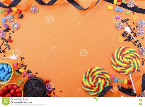 Happy Halloween Candy Background Stock Photo   Image: 75567197