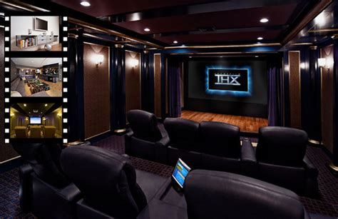 Salle De Cinema Privée 533 by Cine En Casa De Cine Home Cinema