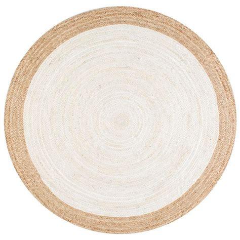 nuloom eleonora white 6 ft x 6 ft area rug tajt09d