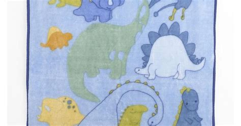 truly scrumptious dinosaur tracks soft and cozy blanket
