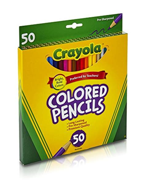 50 crayola colored pencils crayola colored pencils 50 count coloring import