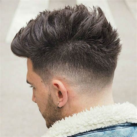 spiky fade haircut latest men haircuts men s haircut slicked to side fade hairs picture gallery