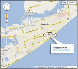 map of galveston island visitor information galveston island historic pleasure pier