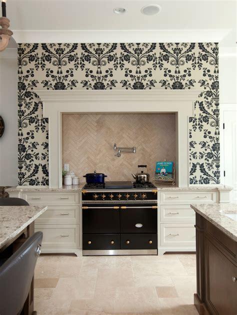 Kitchen Backsplash Wallpaper wallpaper backsplash houzz