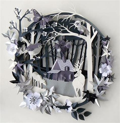 3d Craft Paper - 3d paper cutting designs and ideas chilli