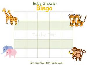 baby shower bingo cards template noah s ark baby shower my practical baby shower guide