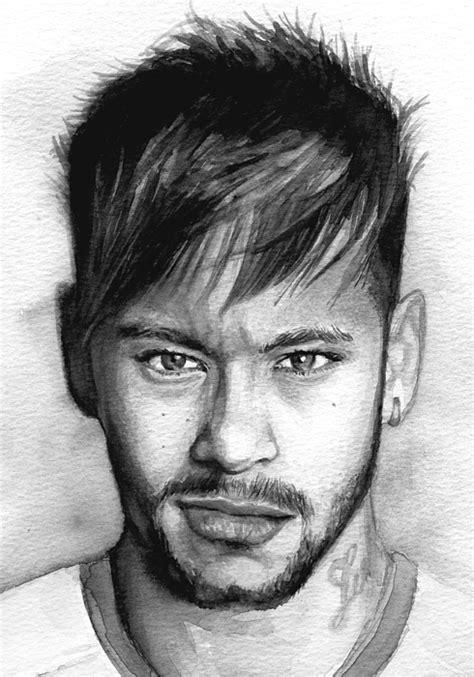 Neymar Portrait Shower Curtain for Sale by Alban Dizdari