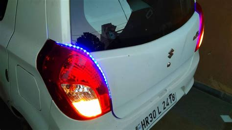 how to install led strips lights in car alto 800 with
