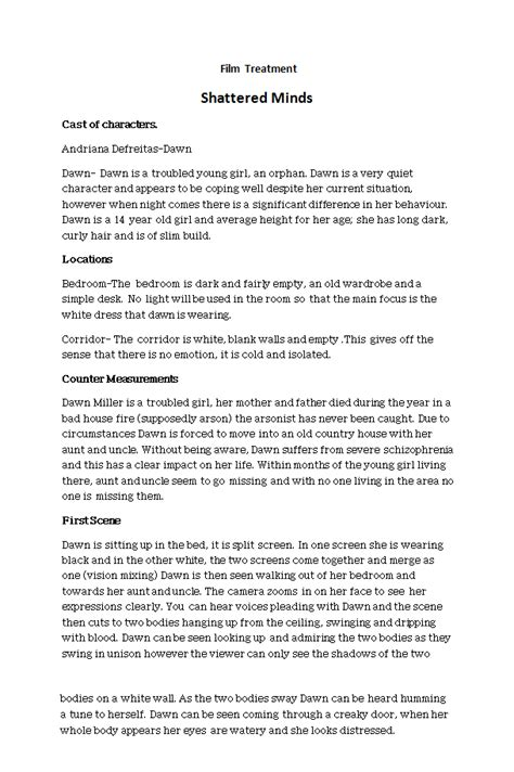 treatment template doc treatment template wordscrawl