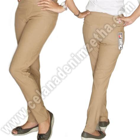 Harga Celana Merk Zetha celana zetha denim pensil warna khaky celana denim zetha
