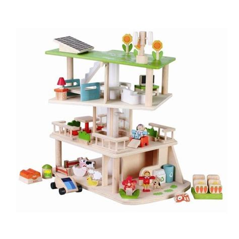 eco doll house eco dolls house with furniture by hibba toys of leeds
