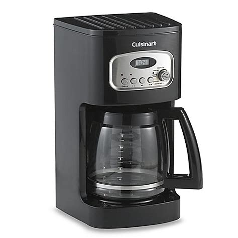 bed bath and beyond coffee makers buy cuisinart 174 12 cup programmable coffee maker in black from bed bath beyond