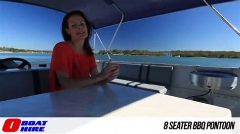 8 seater boat o boat hire 8 seater bbq pontoon youtube