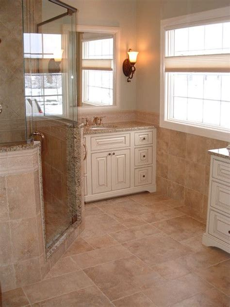Should Bathroom And Kitchen Cabinets Match by Houzz Half Wall Shower Trim Matches Vanity Top