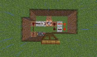 How To Make Door In Minecraft by Redstone Door Step 4 Redstone And Fence