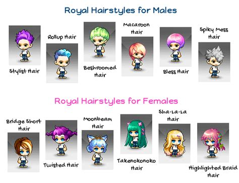 maplestory royal hair red maplestory hairstyle list 2016 life style by modernstork com