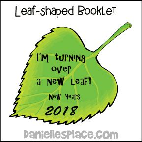 new year new leaf new year s crafts and learning activities for children