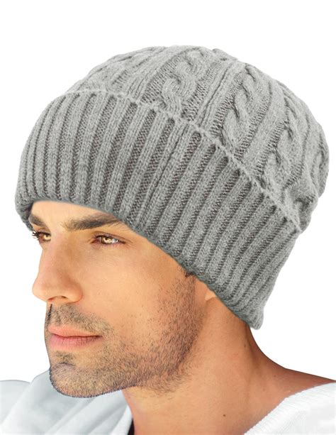 mens knit hats dahlia s cable knit wool blend winter beanie hat