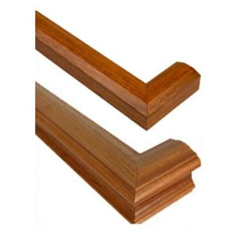 Stair Rail Return Wall Mounted Handrail For Stairs In 25 Wood Species
