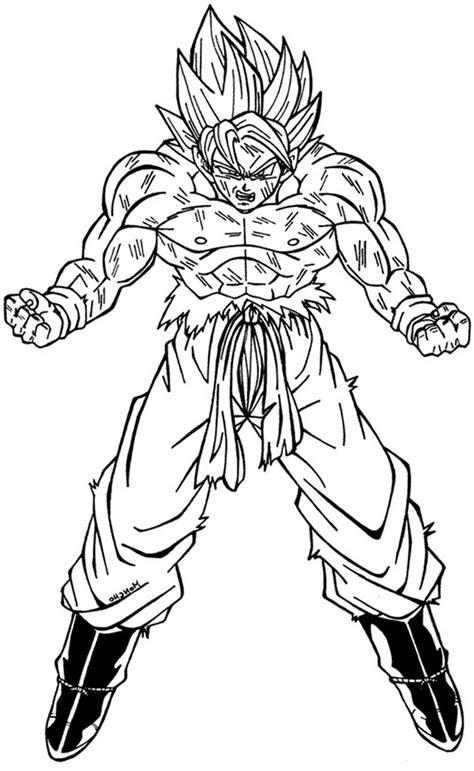 imagenes para pintar a goku imagen de goku para colorear dibujos de