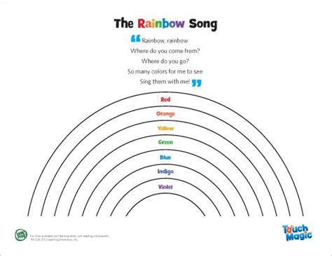 songs with colors in the name leapfrog the rainbow song encourage your child to find