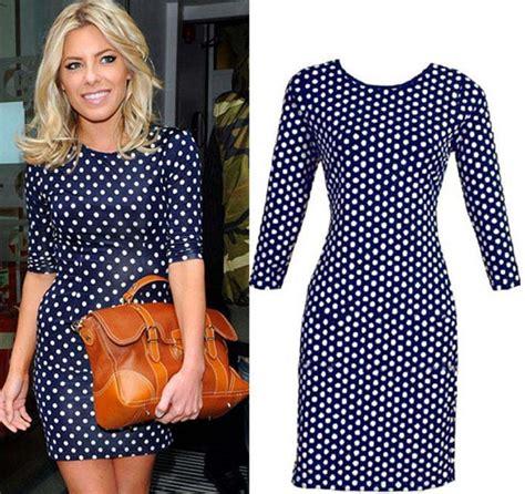 Polkadote Style Blue Orange Mini Dress polka dot dress mini dress summer dress dot blue dress style on luulla