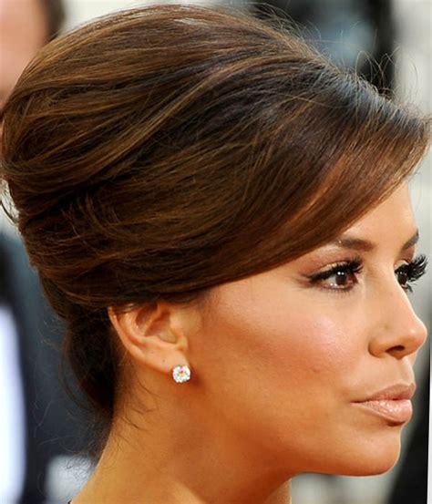 eva longoria sext french twist updo with side swept bangs smy wedding day hair beauty health project wedding