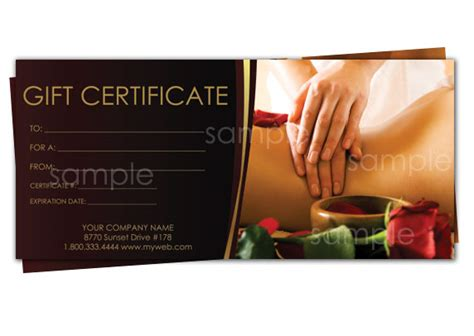 free therapy gift certificate template print your own gift certificates using easy templates