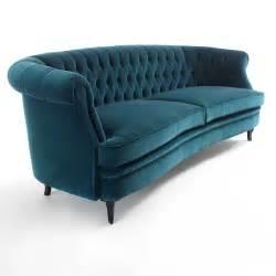 Velvet Sectional Sofa Classic Italian Designer Teal Velvet Sofa