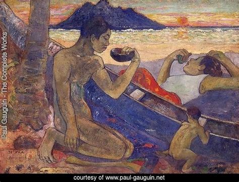 paul gauguin a complete 0340552220 paul gauguin the complete works the canoe a tahitian family paul gauguin net