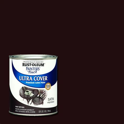 rust oleum painter s touch 32 oz ultra cover satin espresso general purpose paint 242018 the
