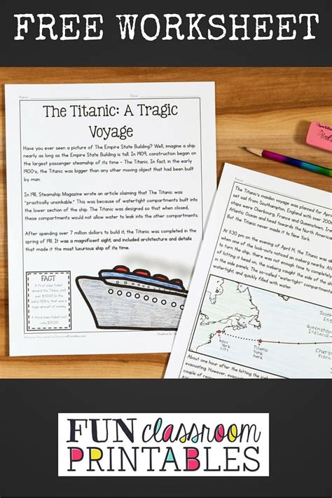 14 best titanic images on printable worksheets