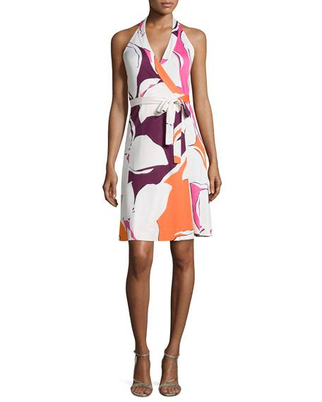 Jewelly Silk Dress Ori Amelia New diane furstenberg amelia halter wrap dress in silk jersey