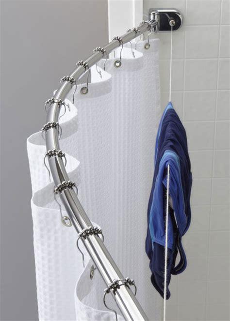 Custom Shower Rods by Clothesline Bracket For Curved Shower Rods