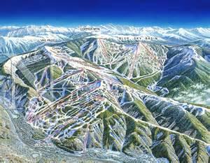 vail mountain colorado niehues map artist ski