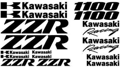 Kawasaki Zzr 600 Aufkleber by High Quality Kawasaki Decal Sets
