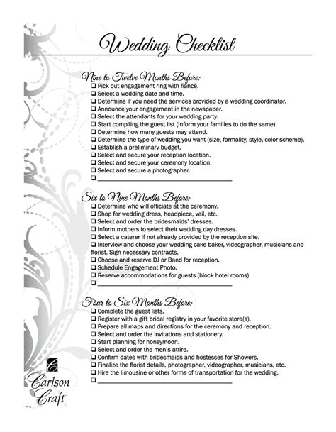 Wedding Videography Checklist by Wedding Checklist Timeline Edit Fill Sign