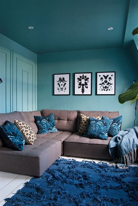 family tv room  reveal living room turquoise teal