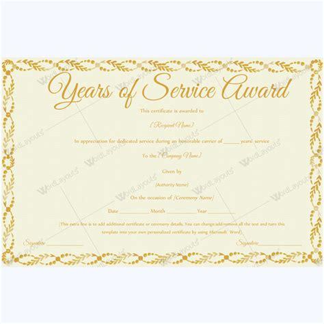 sample certificate of appreciation for service lovely sample