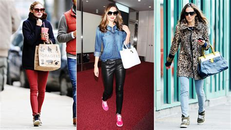 celebrity style trainers the 17 celebrities who are kicking it in stylish sneakers
