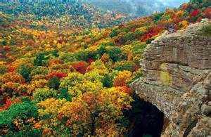 Landscape Rock Fayetteville Ar Autumn In The Ozark Mountains Of Arkansas Places