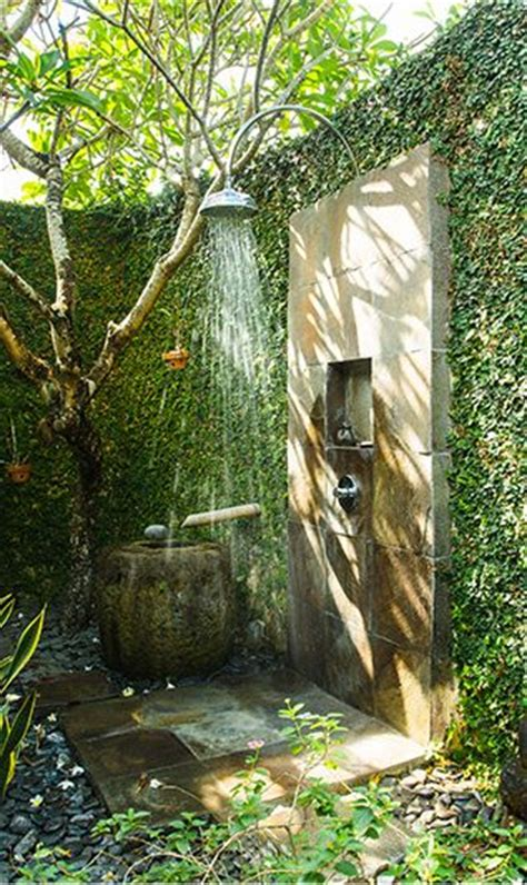 outdoor garden shower 25 best ideas about outdoor showers on pool