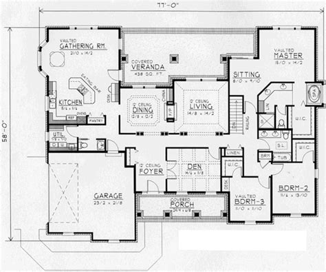 European Floor Plans by European Style House Plans 2737 Square Foot Home 1