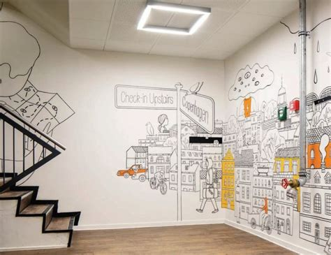 Best Paint For Wall Mural best 25 office wall design ideas on pinterest cool
